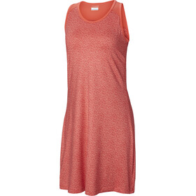 Columbia Saturday Trail III Dress Women red coral geo print